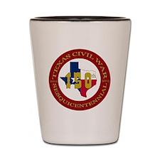 Texas Civil War Logo Shot Glass