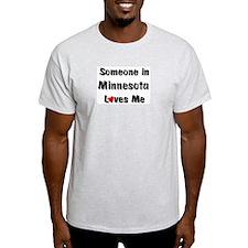 Minnesota Loves Me Ash Grey T-Shirt