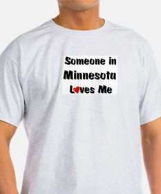 Minnesota Loves Me Ash Grey T-Shirt