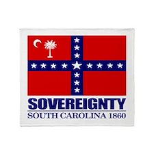 SC Sovereignty Flag Throw Blanket