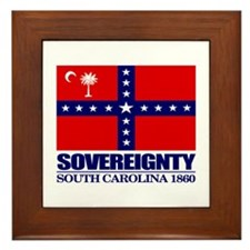 SC Sovereignty Flag Framed Tile