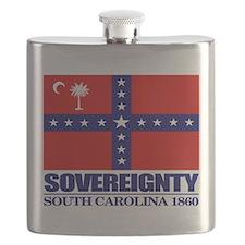 SC Sovereignty Flag Flask