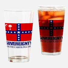 SC Sovereignty Flag Drinking Glass