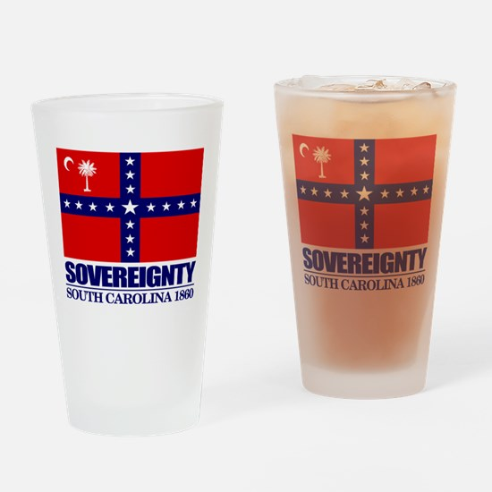 SC Sovereignty Flag Drinking Glass