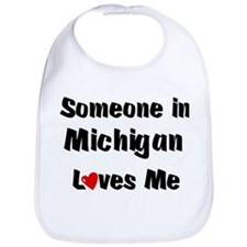 Michigan Loves Me Bib