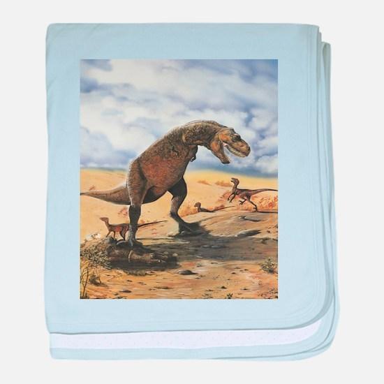 Dinosaur T-Rex baby blanket