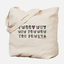 Princess Bride Twoo Wuv Foweva Tote Bag