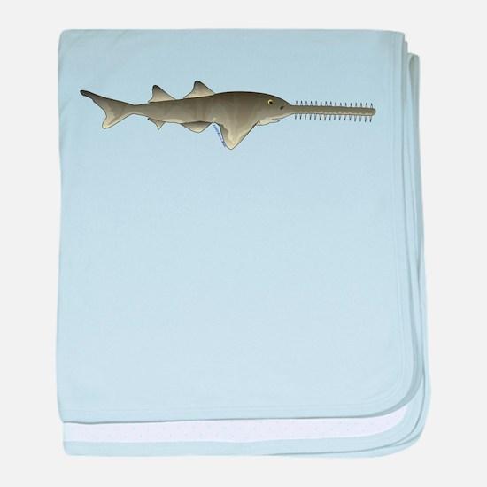 Sawfish c baby blanket