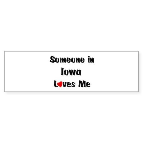 Iowa Loves Me Bumper Sticker