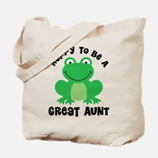 Hoppy to be a Great Aunt Tote Bag