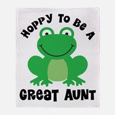 Hoppy to be a Great Aunt Throw Blanket