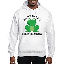 Hoppy to be a Great Grandma Hoodie