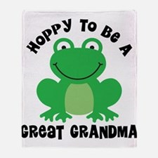 Hoppy to be a Great Grandma Throw Blanket