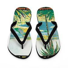 Brazil Travel Poster Flip Flops