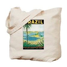 Brazil Travel Poster Tote Bag