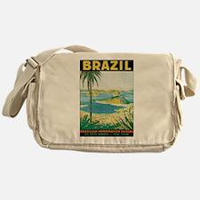 Brazil Travel Poster Messenger Bag