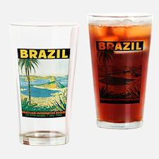 Brazil Travel Poster Drinking Glass