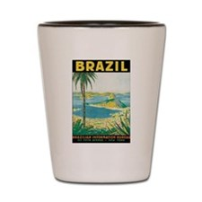 Brazil Travel Poster Shot Glass