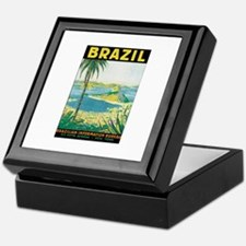 Brazil Travel Poster Keepsake Box