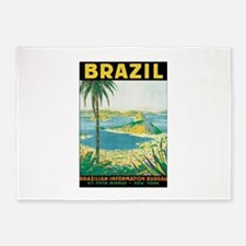 Brazil Travel Poster 5'x7'Area Rug