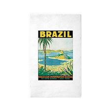 Brazil Travel Poster 3'x5' Area Rug