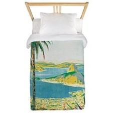 Brazil Travel Poster Twin Duvet