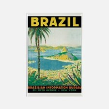 Brazil Travel Poster Rectangle Magnet (10 pack)