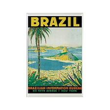 Brazil Travel Poster Rectangle Magnet