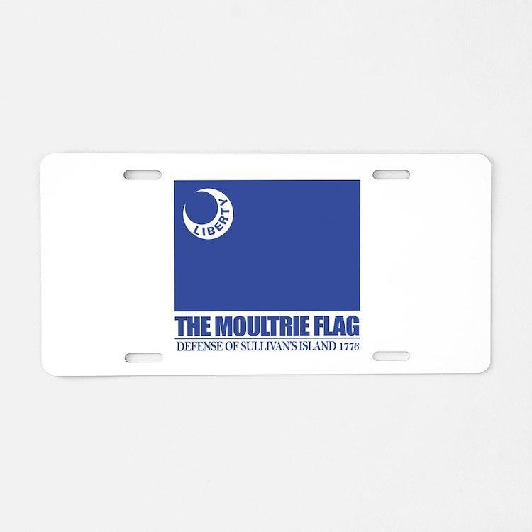 Moultrie Flag Aluminum License Plate