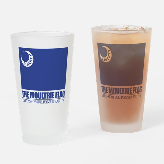 Moultrie Flag Drinking Glass