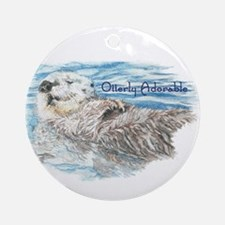 Otterly Adorable Humorous Cute Otter Animal Orname