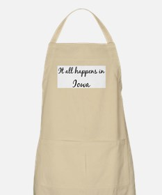 Happens in Iowa BBQ Apron