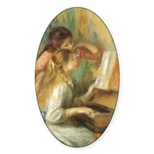 Young Girls at the Piano by Renoir Decal