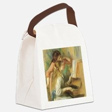 Young Girls at the Piano by Renoi Canvas Lunch Bag