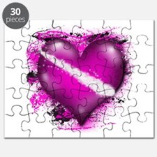 Electric Pink Heart (sc) Puzzle