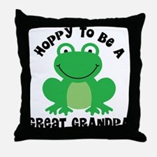 Hoppy to be a Great Grandpa Throw Pillow