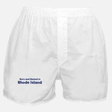 Raised in Rhode Island Boxer Shorts