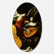 Saint Cecilia and the Angel by Sara Sticker (Oval)