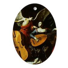 Saint Cecilia and the Angel by Sarac Oval Ornament