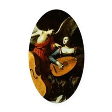 Saint Cecilia and the Angel by Sar Oval Car Magnet