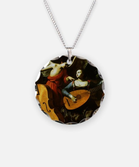 Saint Cecilia and the Angel Necklace