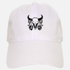Buffalo skull and roses 2 Baseball Baseball Cap