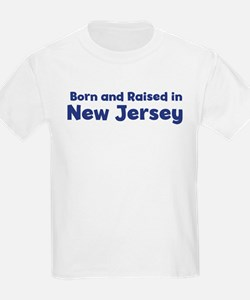 Raised in New Jersey Kids T-Shirt