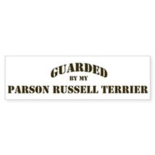 Parson Russell Terrier: Guard Bumper Bumper Sticker