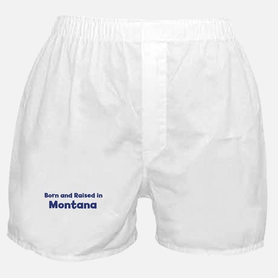 Raised in Montana Boxer Shorts