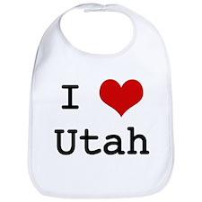 I Love Utah Bib