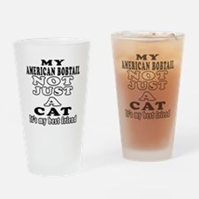 American Bobtail Cat Designs Drinking Glass