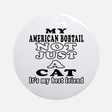 American Bobtail Cat Designs Ornament (Round)