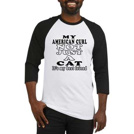 American Curl Cat Designs Baseball Jersey