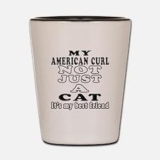 American Curl Cat Designs Shot Glass